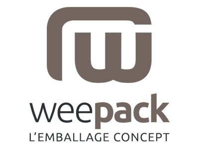 Logo weepack marron emballage concept