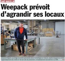 weepack agrandit ses locaux